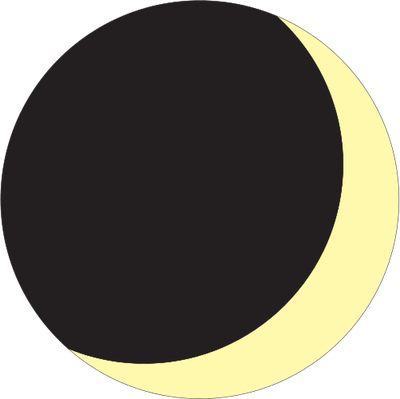 Waxing Crescent Drawing