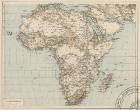 carte physique afrique